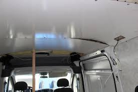 Camper Van Ceiling Panel Install