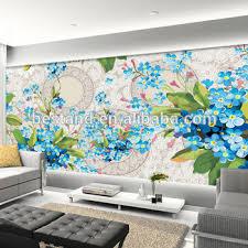 2017 Top Selling Wall Art Large 3d Flower Paintings Bedroom Photo Murals Wallpaper