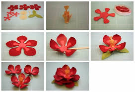 DIY Easy Flower Making Step By Tutorial K4 Craft Art And Work With Paper