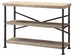 Crestview Living Room Midtown Wood And Metal Console CVFZR887