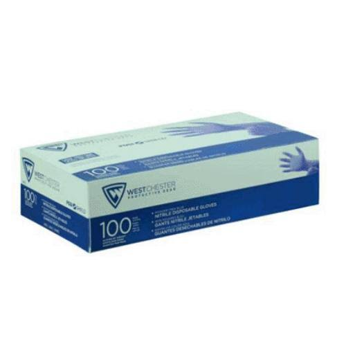 West Chester 2905/L Economy Disposable Nitrile Gloves, Large, Blue