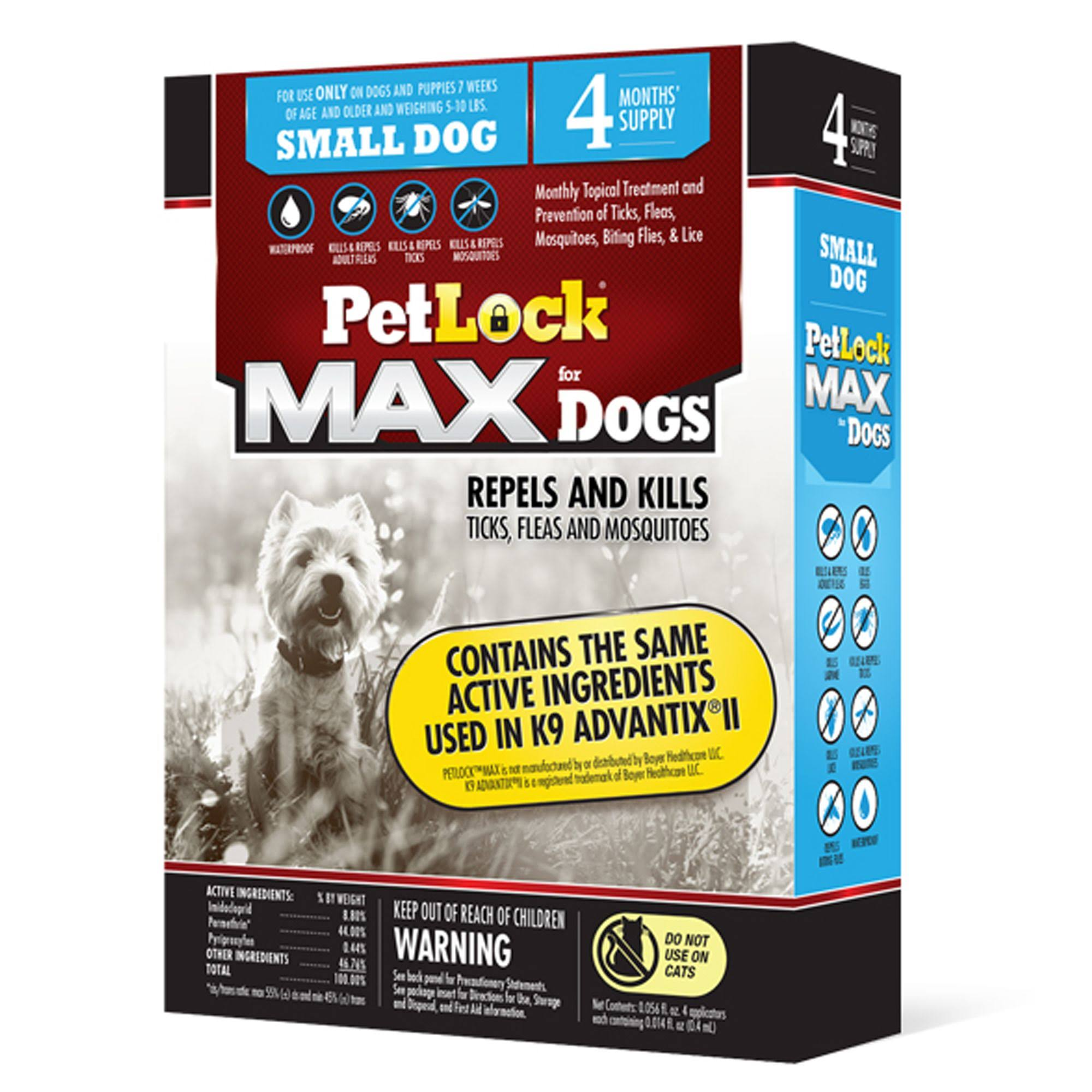 PetLock Max Flea and Tick Treatment for Dogs - 11lbs
