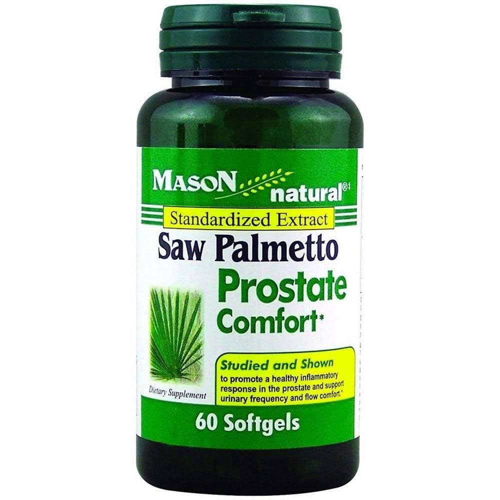 Mason Naturals Saw Palmetto Prostate Comfort Supplement - 60 Count