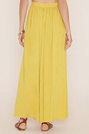 forever 21 contemporary maxi skirt in yellow lyst
