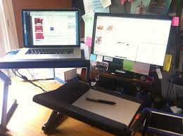 Dual Screen Standing Desk by Right Angels And Polo Bears Even Wordsmiths Need A Stylus