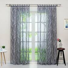 details zu gardinen mit schlaufen kräuselband ösen vorhänge wohnzimmer transparent modern