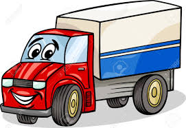 Cartoon Illustration Of Funny Truck Or Lorry Car Vehicle Comic ...