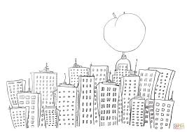 Click The James And Giant Peach In New York Coloring Pages To View Printable