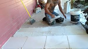 how to tile a porch