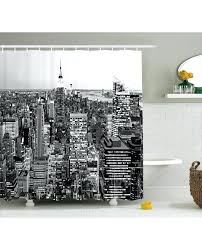 New York Print Curtains Landscape Shower Curtain New Print For