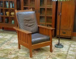 Stickley Mission Leather Sofa by Voorhees Craftsman Mission Oak Furniture L J G Stickley Vintage