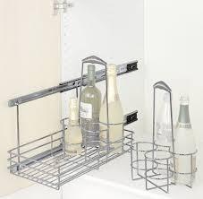 wenko 5940100 schrankauszug bottle ausziehbare flaschenablage montage im küchenschrank chrom 22 x 36 x 42 5 cm