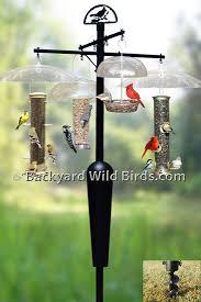 Bird Feeder Pole System A1 at Backyard Wild Birds