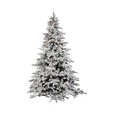 Pre Lit Christmas Tree Rotating Base by Shop Vickerman 7 5 Ft Pre Lit Utica Fir Flocked Artificial