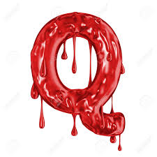 Blood Font Halloween Horror Letter Q Stock Photo Picture And