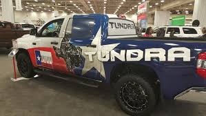 Our Awesome Texas-style Toyota Tundra Wrap At The DFW Auto Show ... Toppers Chevrolet Dfw Camper Corral Boss Trucks Led Truck Lighting Denton Lewisville Tx Truxx Outfitters Toyota Dealer Near Dallas New Used Cars Arlington Diesel Performance Products Parts And Accsories Call Dfw Accsories Tx Best Resource Trailer World Beds Big Tex The Accessory Store Youtube For Sale Dodge Tbh Dealers In Area Texasbowhuntercom