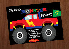 100 Monster Truck Party Ideas Printable Monster Jam Invitations Download Them Or Print