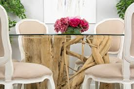 1.5m Java Root Dining Table With 6 Paloma Dining Chairs ...
