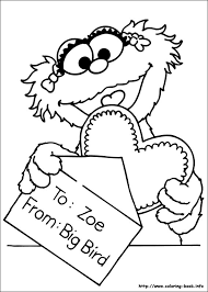 Printable Lovely Design Sesame Street Coloring Pages On