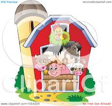 Clipart Barnyard Animals In A Barn - Royalty Free Vector ... Cartoon Red Barn Clipart Clip Art Library 1100735 Illustration By Visekart For Kids Panda Free Images Lamb Clipart Explore Pictures Stock Photo Of And Mailbox In The Snow Vector Horse Barn And Silo 33 Stock Vector Art 660594624 Istock Farm House Black White A Gray Calf Pasture Hit Duck