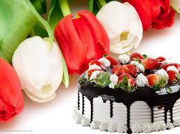 Chocolate Birthday Cake With Flowers Birthday Cakes