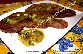 cuisiner coeur de porc cœur de bœuf tranches poêlé sauce persillée