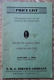 National Rifle Association 1932 Catalog Winchester Shooting Coat Sights