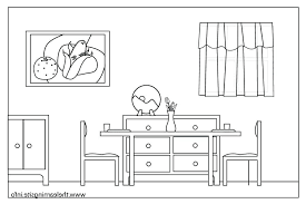 Bedroom Clipart Black And White Bed Double