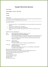 Resume Objective Electrician - Erha.yasamayolver.com