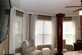bay window curtain rods diy dzuls interiors