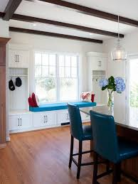 Photos Hgtv White Kitchen With Built In Window Seat And Storage Collection Of Solutions Dining Room