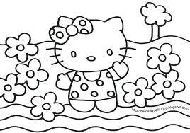 Hello Kitty Free Printable Coloring Pages Kids Valentine Large Size