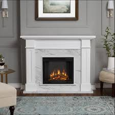 Real Flame Kipling White Marble Freestanding Electric Fireplace