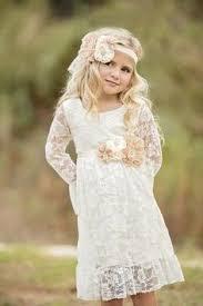Flower Girl Dress Ivory Wedding CountryRustic