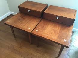 mid century american of martinsville coffee table pair of end