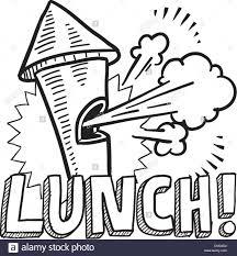 Lunch Break Sketch Stock Vector Art Illustration Image