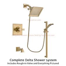 Delta Trinsic Bathroom Faucet Champagne Bronze by Compare Delta Dryden Champagne Bronze Finish Tub And Shower Faucet