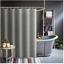 household polyester gewebe dusche resistant vorhang grau