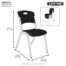 Folding Chair Carts Lifetime by Lifetime Premium Black Stacking Chair 80310