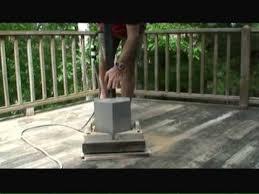 sanding wood decks video youtube