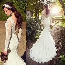 white ivory lace wedding dresses mermaid wedding dress