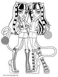 Monster High Coloring Pages Games 2