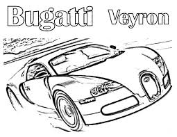 Luxurious Bugatti Car Veyron Colouring Page