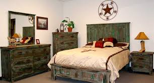 Reclaimed Wood Bedroom Furniture Rustic Hardwood Vintage Style Dresser Bed Plus Wingback Comfortable White Mattress Pillow