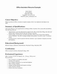 Medical Office Assistant Resume Sample From Objective Examples Entry Level