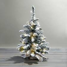 24quot Pre Lit Flocked Christmas Tree With Warm White LEDs