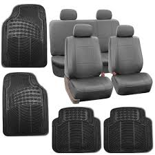 2004 Nissan Xterra Floor Mats by Gray Faux Leather Car Seat Cover Set Headrests Floor Mat Set Ebay