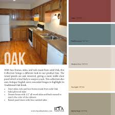 Kitchen Paint Colors With Light Cherry Cabinets by Color Palette To Go With Our Oak Kitchen Cabinet Line Color