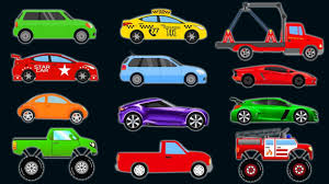 CARS And TRUCKS For KIDS. Learn COLORS Vehicles. Video For ...