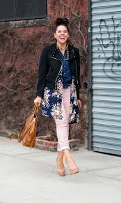 Early Spring Outfit Idea Mix Gingham And Floral Prints